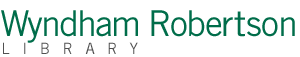 Wyndham Robertson Library Logo