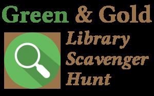 Green & Gold Library Scavenger Hunt Logo